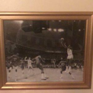 Framed Michael Jordan College Winning Shot